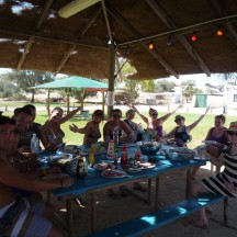 One of many groups that visited Hamelin Pool and Stayed for a BBQ